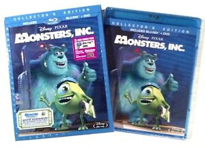 Disney Pixar's Monsters, Inc. (Blu-ray/DVD, 2013, 3-Disc) Brand New w/Slipcover!