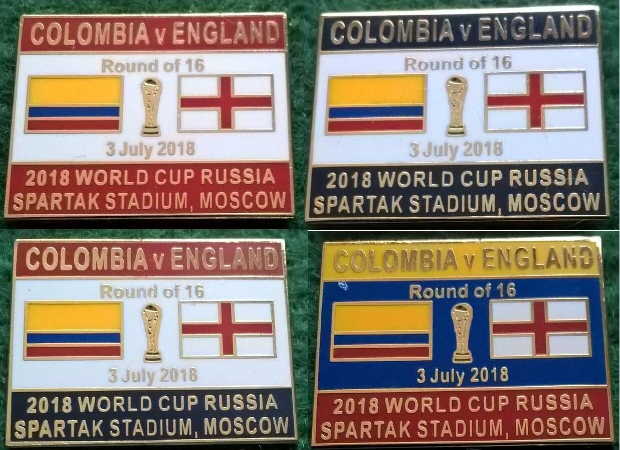 Colombia v England 2018 World Cup Last 16 Spartak Stadium Moscow 3 July Badge