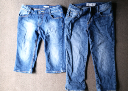 Size 10 denim shorts and 3/4 jeans