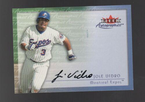 2001 SP Authentic Limited #65 Jose Vidro //50 EXPOS