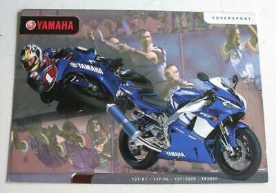 YAMAHA SUPERSPORT Motorcycle Sales Brochure 2001 Australian Market #LIT-SUPER-01
