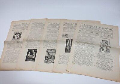 5 Ausgaben, Süddeutsche Bauzeitung 1920/21, Nr. 23,24,25,36,37  #H297