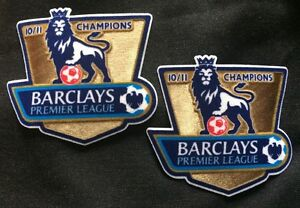 2 Barclays Premier League Manchester United Champions Shirt Arm Patch EPL 10/11