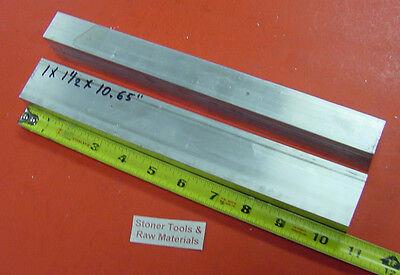 2 Pieces 1 X 1-12 Aluminum 6061 T6 Rectangle Bar 10.65 Long Solid Mill Stock