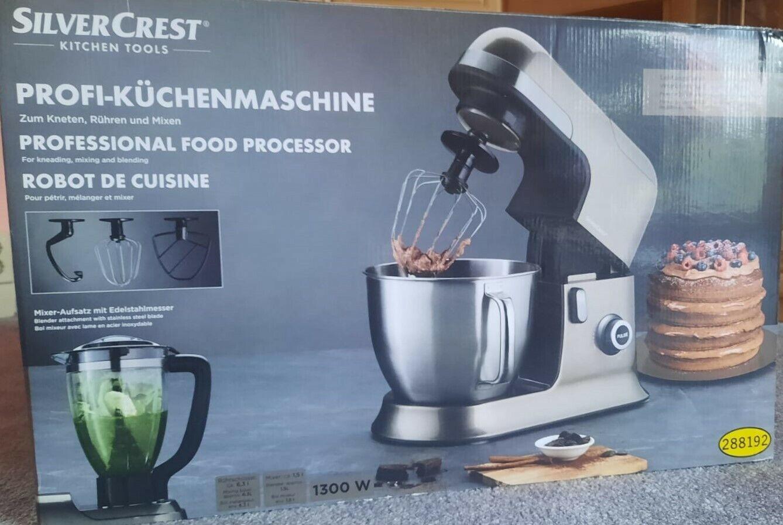 Küchenmaschine inkl. Mixer mit Edelstahlmesser