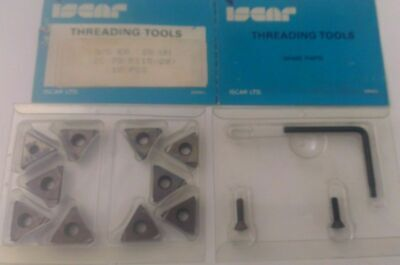Iscar Threading Tool 38 Er 28 Un Ic 70 Carbide Inserts 10 Pcs Thread Lathe New