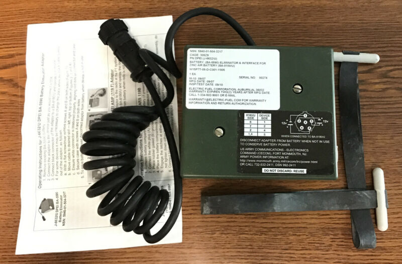 MILITARY BATTERY, ELIMINATOR & INTERFACE DPEI J-6633/U
