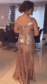 Beautiful rose gold formal dress, in perfect condition, selling for £100.