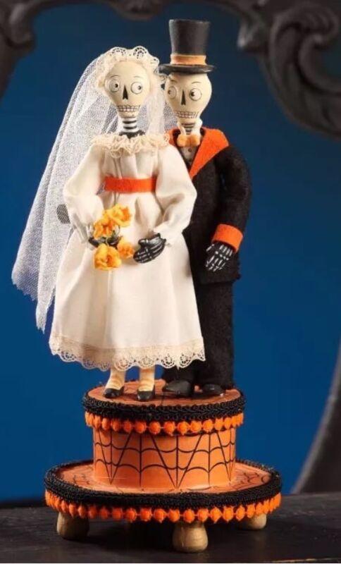 Bethany Lowe Allen Cunningham Halloween Wedded Bliss Wedding Cake Topper-Retired