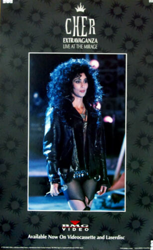 "Cher Extravaganza Live at The Mirage Promo Poster 16"" X 26"" Heart of Stone Tour"