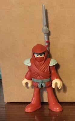 Imaginext Ninja RED NINJA figure with hood & Weapons