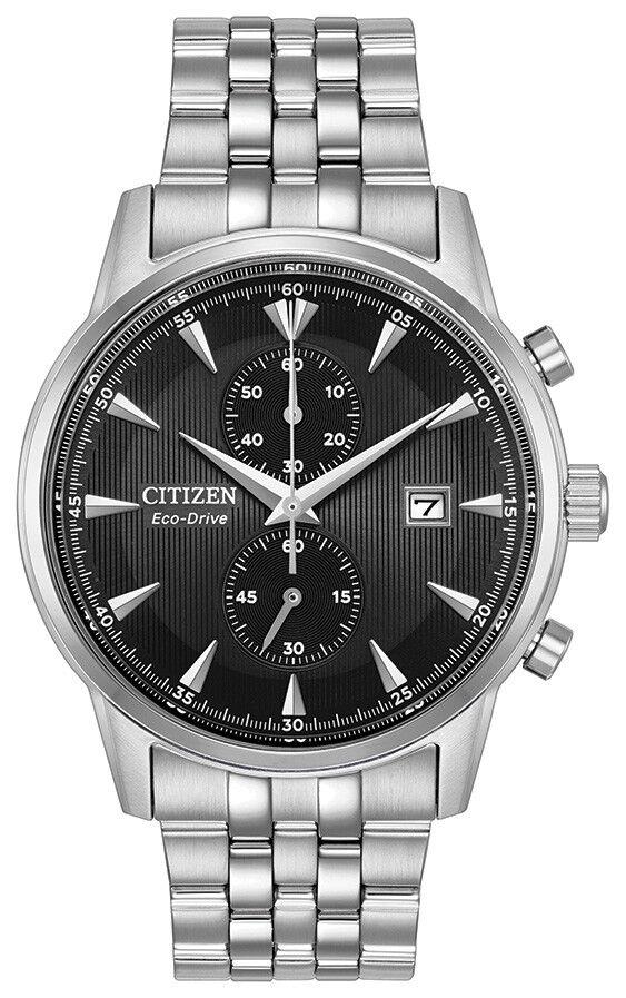 Citizen Eco-Drive Corso Men's Chronograph Black Dial 43mm Watch CA7000-55E
