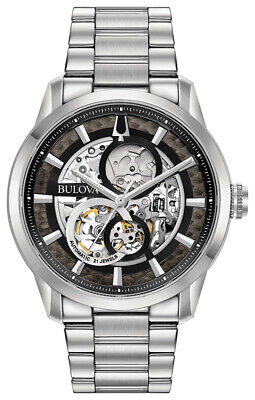 Bulova Men's Automatic Silver-Tone Band 43mm Watch 96A208