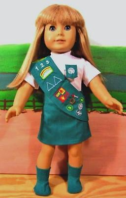 Girl Scout Uniform fits American Girl Doll,18 Inch Doll Clothes