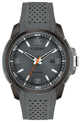 Citizen Eco-Drive Men's AW1157-08H Naismith Grey Poly Strap 45mm Watch