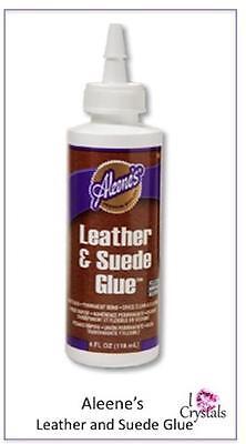 ALEENE'S LEATHER AND SUEDE Glue Adhesive Rhinestone Clear Permanent 4oz ALEENES](Aleene's Glue)