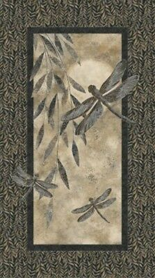 Northcott Shimmer Dragonfly Moon 22559M 99 Tranquility Dragonfly Panel Metallic