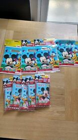 brand new disney mickey mouse party bags and invitations new unopened
