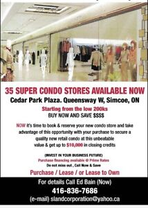 PRECONSTRUCTION SALE OF STORES IN SIMCOE ON