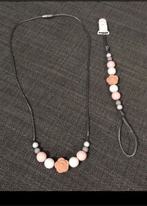 100%BPA Free Silicone beaded necklaces + dummy clips baby Revesby Heights Bankstown Area Preview