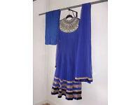 Anarkali Dress Royal Blue BNWT Size 10-12 RRP £150