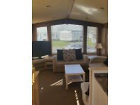 3 BEDROOM CARAVAN FOR HIRE AT CRAIG , AYR - FULL GCH AND DG THROUGHOUT