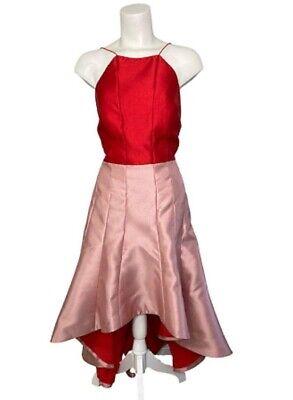 Phoebe Vestido Mujer 8 Tiras Escote en la Espalda Rosa/Rojo Alto y...