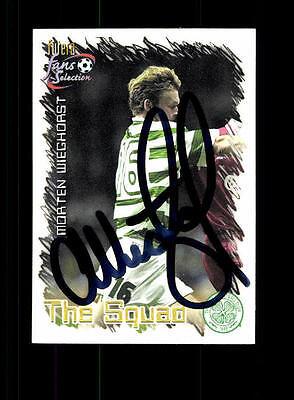 Morten Wieghorst Celtic Glasgow Futera Sammelcard Original Signiert+ A 157480