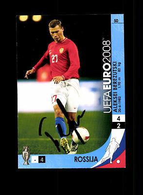 Aleksei Berezutski Russland Panini Card Euro 2008 Original Signiert+ A 158185 B