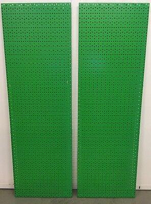 Lochwand Werkstattwand Lochplatte Lochblech 125x40 grün RL