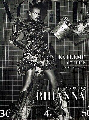 VOGUE UNIQUE 09/2009 EXTREME COUTURE Rihanna JOURDAN DUNN Frida Gustavsson @EXCL