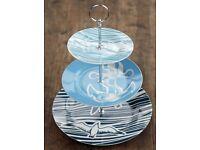 'Whitby Cake Stand' - beautiful Nautical theme - BRAND NEW IN BOX! Bargain