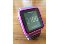 Running watch Tom Tom runner GPS watch in pink (Model 8RS00) Reduced price £50