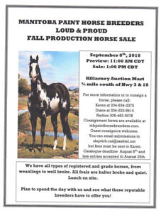 2018 LOUD AND PROUD FALL PRODUCTION SALE