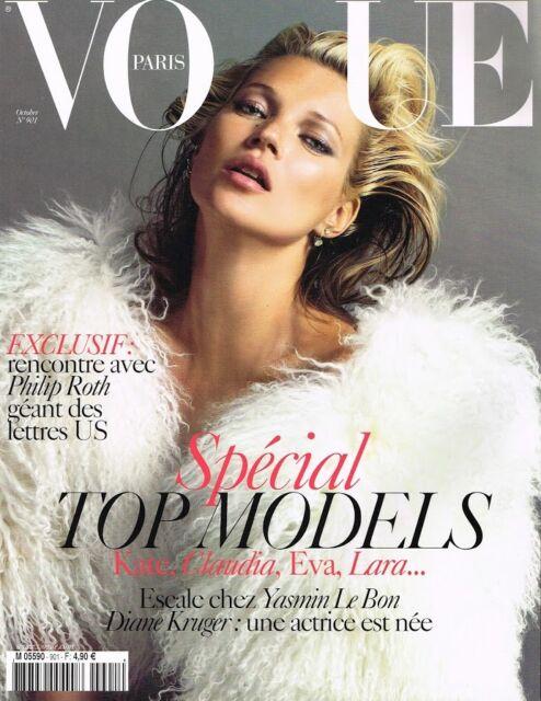VOGUE Paris October 2009 KATE MOSS Claudia Schiffer LARA STONE Eva Herzigova EXC