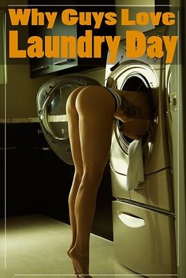 Why Guys Love Laundry Day   Sexy Butt Poster 24X36   Hot Model Thong 52347