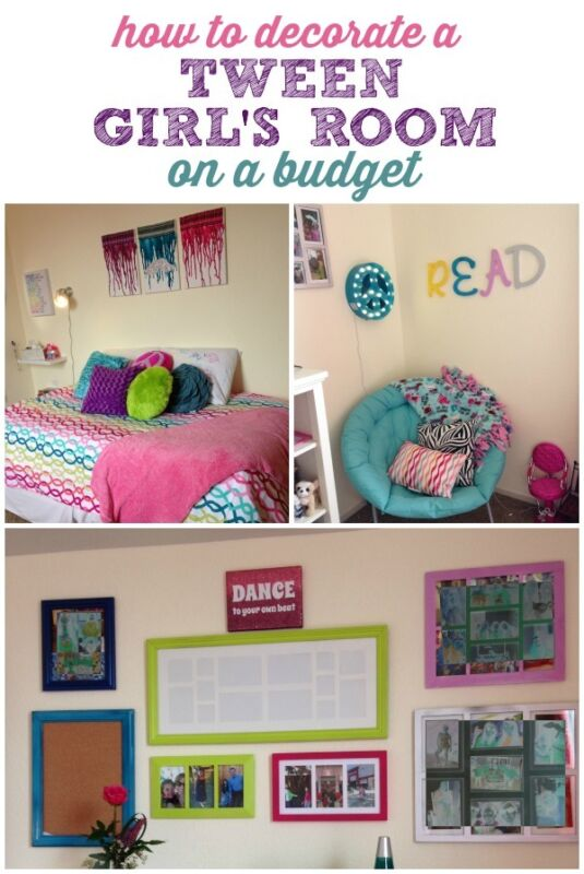 Decorating a tween girl 39 s room on a budget ebay for Girls bedroom ideas on a budget