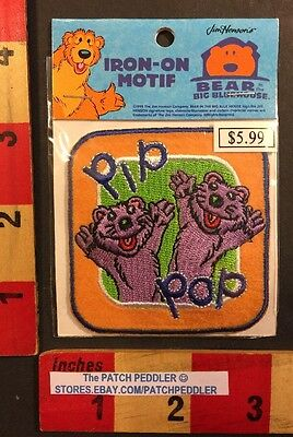 Pip & Pop Iron On Motif Patch Jim Henson Bear In The Big Blue House Muppets 558