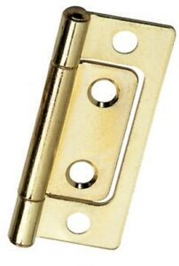 Non-mortise Hinge - Bright Brass Plated - 2