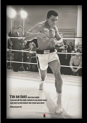 9668548a340 MUHAMMAD ALI FAST 13x19 FRAMED GELCOAT POSTER BOXING WORLD CHAMP ICON GREAT  BEST