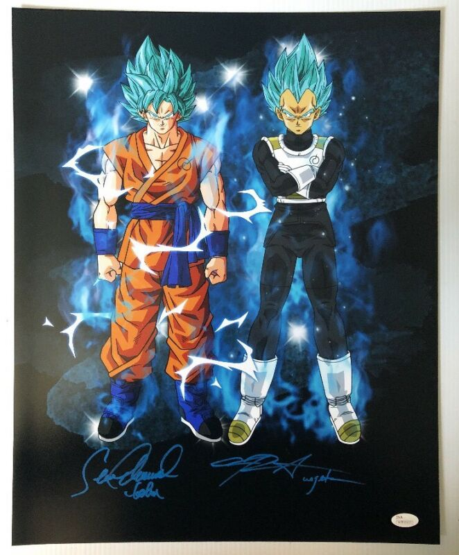 Sean Schemmel Chris Sabat Signed Autographed 16x20 Photo Dragon Ball Z JSA 2