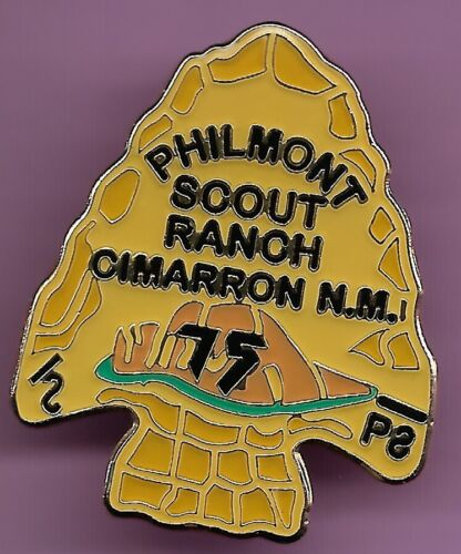 PHILMONT SCOUT RANCH * 2013 75th ANNIVERSARY HAT PIN * HORSE & COW BRANDS