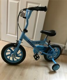 """Boys First Bike Trax T12 with stabilisers 12"""" AS NEW CONDITION USED few times"""