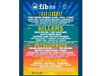 2 tickets for Benacassim FIB festival, 4 days with camping 🏕☀️🎶