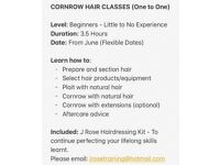 CORNROW CLASSES -LEARN HOW TO CORNROW (BEGINNERS)