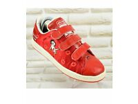Adidas Betty Boop Adicolor red embroidered Vintage style track shoes size UK 5