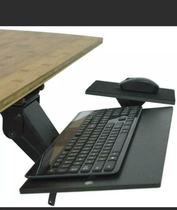 KT1 Ergonomic Under-Desk Computer Keyboard Tray. Adjustable height angle