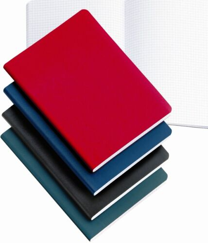 Miquelrius Red Leather-look 200 sheet Graph Notebook 4x6