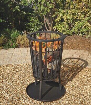 Garden Fire Pit Log Burner Outdoor Patio Heater 40CM Woodburner Brand NEW UK