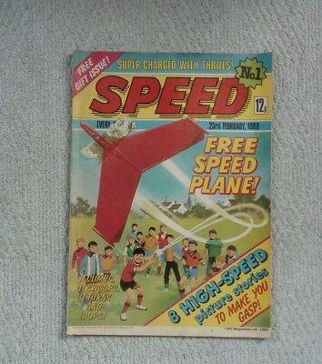 Speed Comic Issue No1 (23rd Feb 1980)  IPC Magazines Ltd [Rare/Scarce] Free P&P